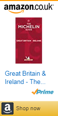 Front cover of the Great Britain & Ireland MICHELIN Food Guide 2019 with Amazon affiliate link